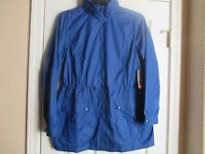 NWT ST. JOHN'S BAY PACKABLE WATER RESISTANT HOODED JACKET LARGE BLUE RETAIL $50