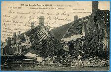 CPA: Bataille de l'Yser - Nieuport bombardé - Rue d'Ostende / Guerre 14-18