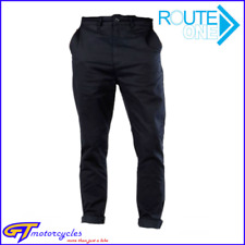 Genuine Route One Ontario Chino Men's Motorcycle Trousers   Black   Size 36