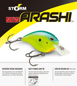"Storm Arashi Silent Square Bill CrankBait, ASQS-05, 2-3/8"" 5/8 oz, Choice of Col"