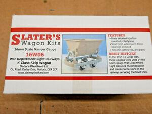 Slaters 16W06 War Department K Class Skip Wagon Kit 16mm Scale 32mm Gauge