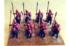 15mm Fantasy Vampirian Lancers with Shields on Lightly Armored Horse (8 figs)