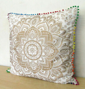 Indian Mandala Beautiful Cotton Square Cushion Cover Pillow Cover Pillow Cases