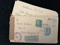 Spanien 31.01.1950(?) - Österreichische Zensur, Brief mit Inhalt nach Wien