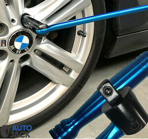 "Autojack 24"" Breaker Bar 1/2"" Socket Sq Dr Power Flexi Knuckle Blue Chrome 600mm"