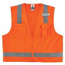 Four (4) GloWear® 8249Z Type R Class 2 Economy Surveyors Vest - Size S/M 2XL/3XL