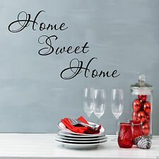 HOME SWEET HOME Wall Art Sticker Lounge Hall Quote Decal Mural Transfer WSDWQ3