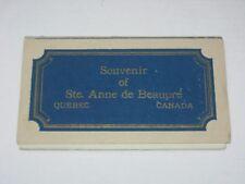 Vintage c.1930's Canada Souvenir Postcards Booklet - Ste Anne de Beaupre Quebec