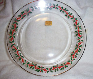 """Arcoroc J.D. Durand Holly Berry & Ribbons Luncheon / Salad Plate 8"""" Arby's MINT"""