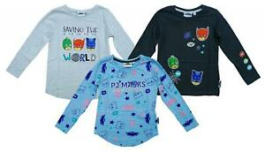 Boys Top Long Sleeve PJ Masks Tee Owlette Gekko Catboy Kids T-Shirt 3 to 8 Years
