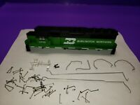 AS IS CASING RAILINGS BURLINGTON NORTHERN HO SCALE ATHEARN GP50 LOCOMOTIVE KIT