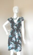PETER MOROSSEY GREEN AND GRAY  DRESS WITH BELT SIZE 10