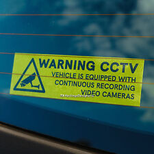 Advertencia de seguridad CCTV Video Cámaras 190mm coche, taxi, entrenador dentro de la ventana de Sticker