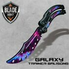 CSGO GALAXY BLACK Practice Knife Balisong Butterfly Tactical Combat Trainer