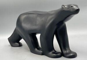 OURS de François POMPON en bronze d'art patine noire