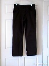 DKNY Womens Jeans Wide Leg Black Stretch Size 34 Italy