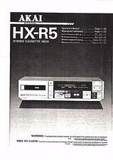 AKAI manuale di istruzioni user manual Owners Manual per HX-R 5