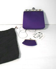 New w/Tags~Authentic Judith Leiber~Bejeweled~Vibrant Purple Satin Evening Bag