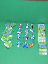 Lot 12 Schtroumpf mini Figurine Porte-clé bijoux strap Charm Cool Things smurf