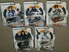 Hot Wheels Overwatch Character Cars complete set of 5 sealed Reaper Genji Tracer