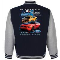 Children's Licensed Ford Mustang Boss 302 American Baseball Varsity Car Jacket