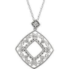 diamante varias caras filigrana 45.7cm Collar Plata de ley 925 ( 1/6 Ct. TW