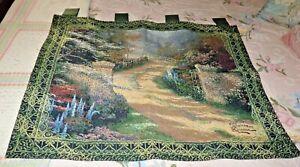 Spring Gates Tapestry Wall Hanging ~ Artist, Thomas Kinkade Signed