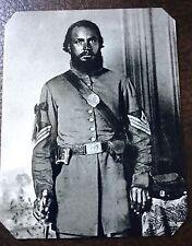Civil War Military African American Soldier TinType C249RP