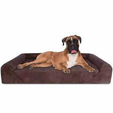 Dog Bed Deluxe Orthopedic Memory Foam Sofa Lounge Couch X Large Brown Kopeks