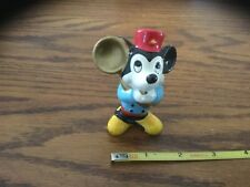 Vintage Walt Disney Productions Mickey Mouse Playing Tuba Musical Figurine