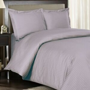 300 TC Lilac Sateen Striped 8 PC Beds In A Bag