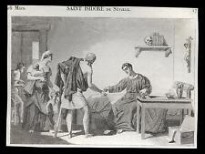 santino incisione1800 S.ISIDORO DI SIVIGLIA