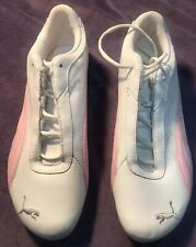 Puma White / Pink Fashion Shoes Sneakers Womens Sport Lifestyle Size 9 New