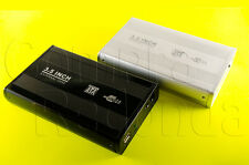 CARCASA CAJA DISCO DURO EXTERNO 3,5 SATA USB EXTERNA FUNDA CABLES ALUMINIO