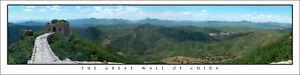 Poster Panorama Great Wall of China Panoramic Fine Art Print Simatai 10x40 Photo