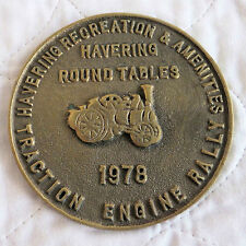TRACTION ENGINE RALLY 1978 HAVERING ROUND TABLE LARGE 94mm PLAQUE