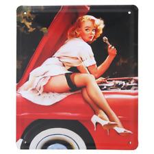 LEGGY MECHANIC Car Automobile Retro Vintage Metal Shed Garage Sign UK 15 x 21cm