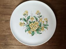 Vintage Eastern China cake plate New York City, heat proof, yellow flowers