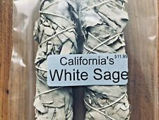 "California White Sage Smudge Stick 9"" Huge Extra Thick and Long Free Ship"