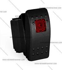 marine, Contura II Rocker Switch Carling,- lighted - Black/no label 1 RED lens