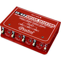 Radial Engineering JX42 Compact Four-Input Guitar Switcher New 2 Day Delivery