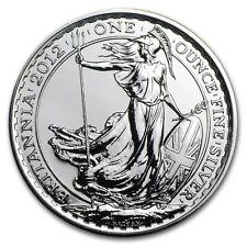 British Royal Mint UK £2 Britannia 2012 1 oz .958 Silver Coin