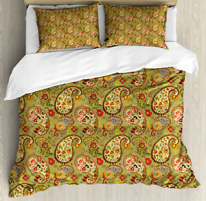 Paisley Pattern Duvet Cover Set Twin Queen King Sizes with Pillow Shams
