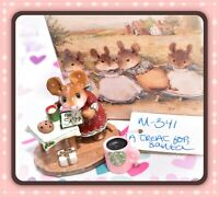❤️Wee Forest Folk M-341 A Treat for Santa Christmas Mouse Cookie 2006 WFF❤️