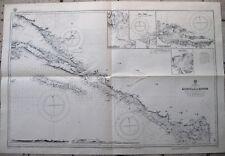OLD ANTICA MAPPA CARTA NAUTICA KORCULA TO KOTOR CROAZIA HRVATSKA 1878 - 1933