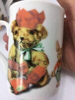 Noritake Australia Gallery by Inhesion Set 4 Teddy Bear & Friends Coffee Mugs