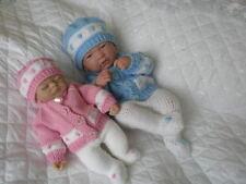 "Creative Dolls Designs Knitting Pattern Cardigan Set 10-15"" Dolls Premature Baby"