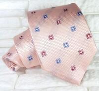Cravatta uomo seta Rosa Jacquard 9 cm Made in Italy business / matrimoni