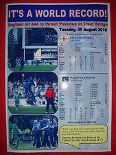England one-day 444/3 world record v Pakistan 2016 - souvenir print