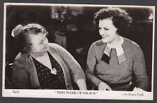 Postcard Film Weekly vintage movie still Gracie Fields This Week of Grace #2 RP